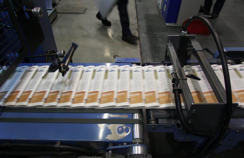 Het proces van de krantendruk stock fotografie