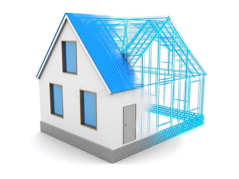 het proces van het huisontwerp vector illustratie