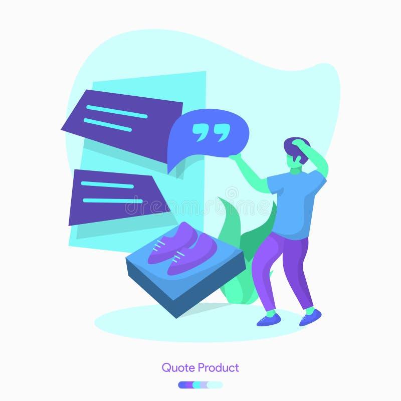 het Product van het illustratiecitaat vector illustratie