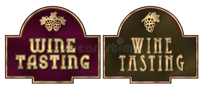 Het proeven van de wijn vector illustratie