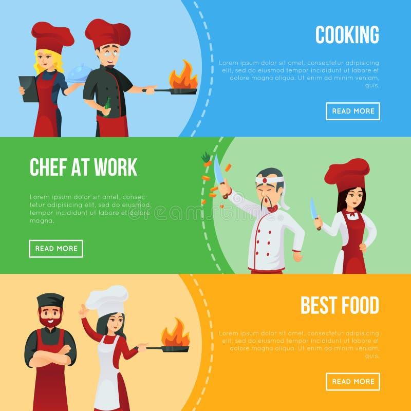 Het professionele agentschap van de keukenaanwerving stock illustratie