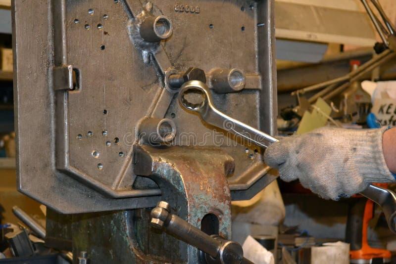 Het professionele mechanische werken royalty-vrije stock afbeelding