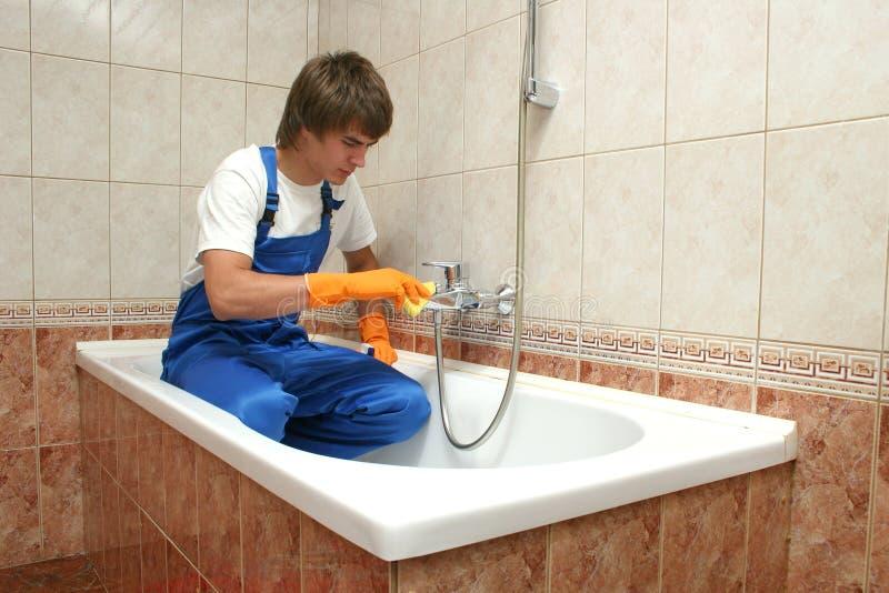 Het professionele schoonmaken stock afbeelding