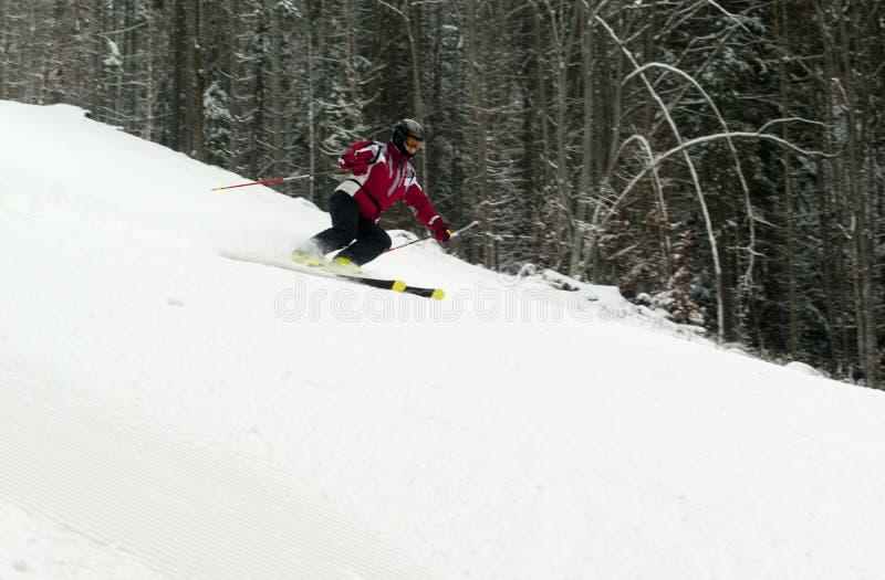 Het professionele ski?en in Bukovel royalty-vrije stock afbeeldingen