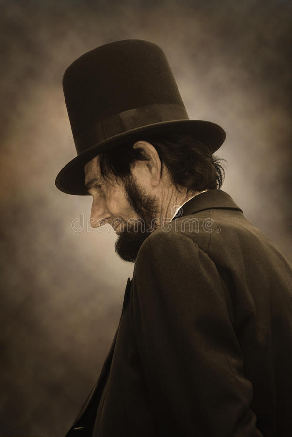Het Profiel van Abraham Lincoln royalty-vrije stock foto's