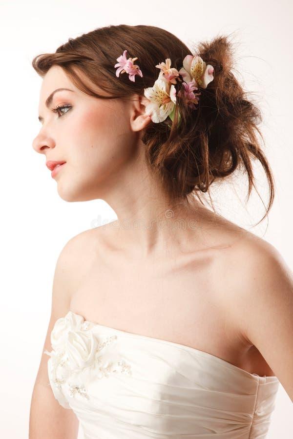 Het profiel van bruiden stock foto's