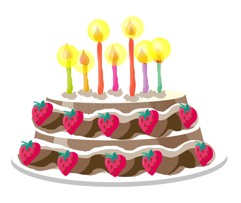 Het Profiel van de Cake van de verjaardag vector illustratie