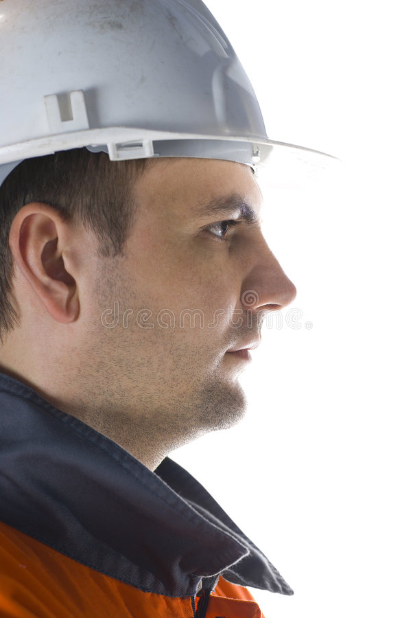 Het profiel van de mijnwerker royalty-vrije stock foto's
