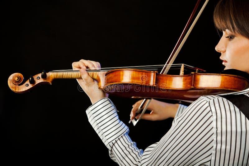 Het profiel van de violist royalty-vrije stock afbeelding