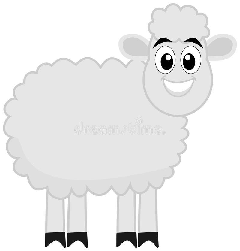 Het profiel van een lam stock illustratie