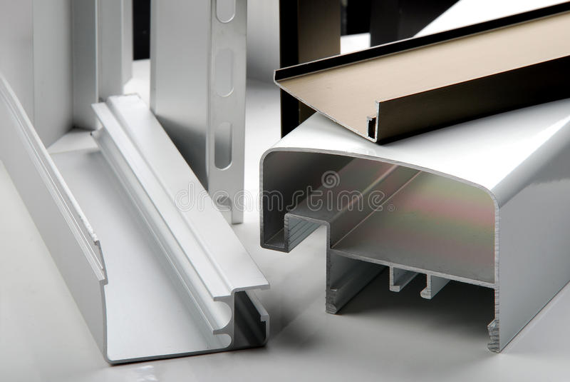 Het profiel van het aluminium stock foto's