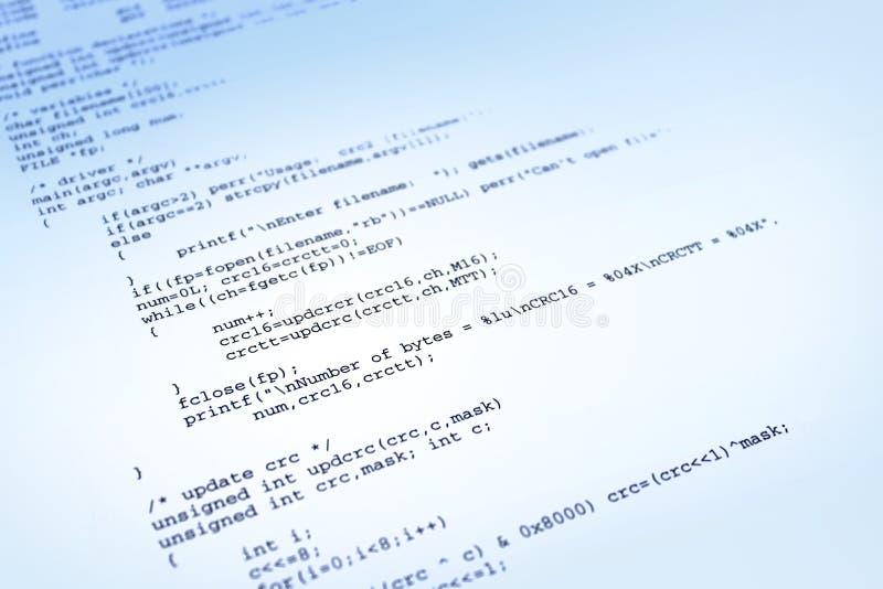 Het programma van de software over blauwe achtergrond royalty-vrije stock foto's
