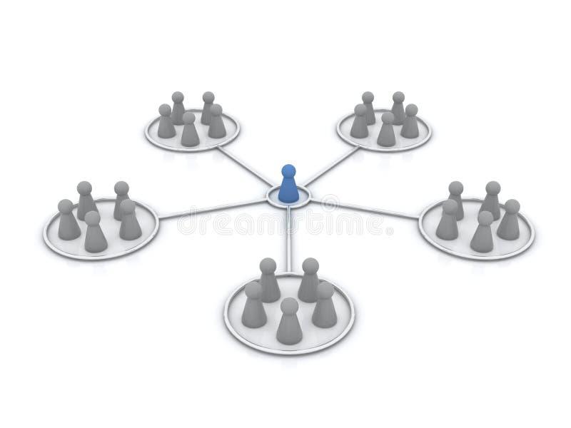 Het programma van het filiaal. Netwerk. royalty-vrije illustratie