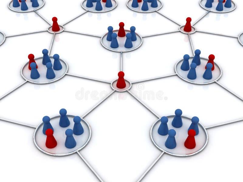 Het programma van het filiaal. Netwerk. vector illustratie