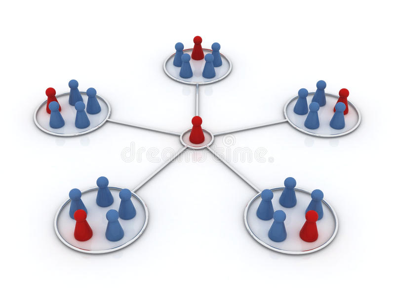 Het programma van het filiaal. Netwerk. stock illustratie