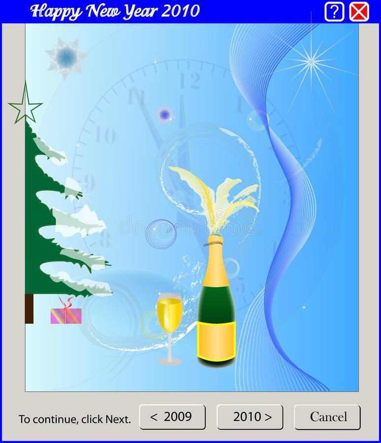 Het programma van het venster - Gelukkig Nieuwjaar stock foto's