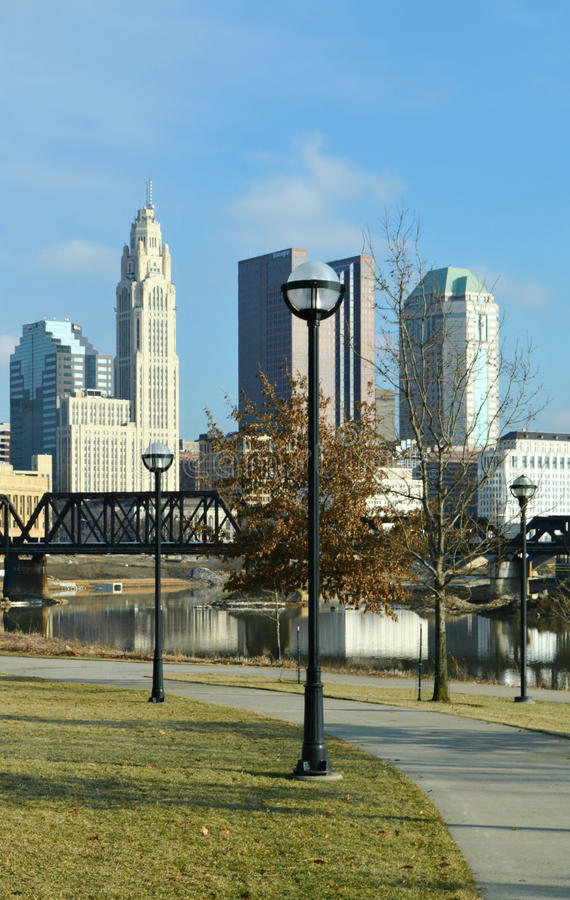 Het Project Columbus Ohio Van de binnenstad van Sciotogreenways stock foto's