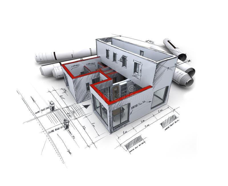 Het project van de architectuur royalty-vrije illustratie