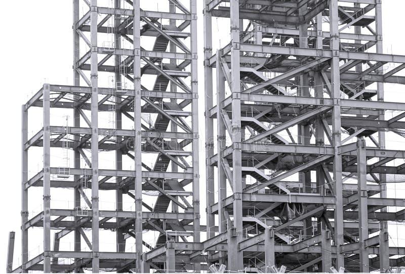 Het Project van de grote Schaalbouw met Staalbalken stock afbeeldingen