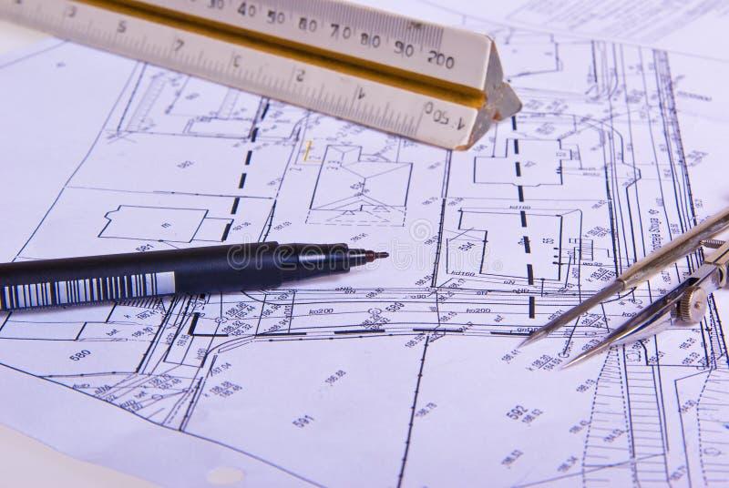 Het project van de het projectbouw van de bouw stock afbeeldingen