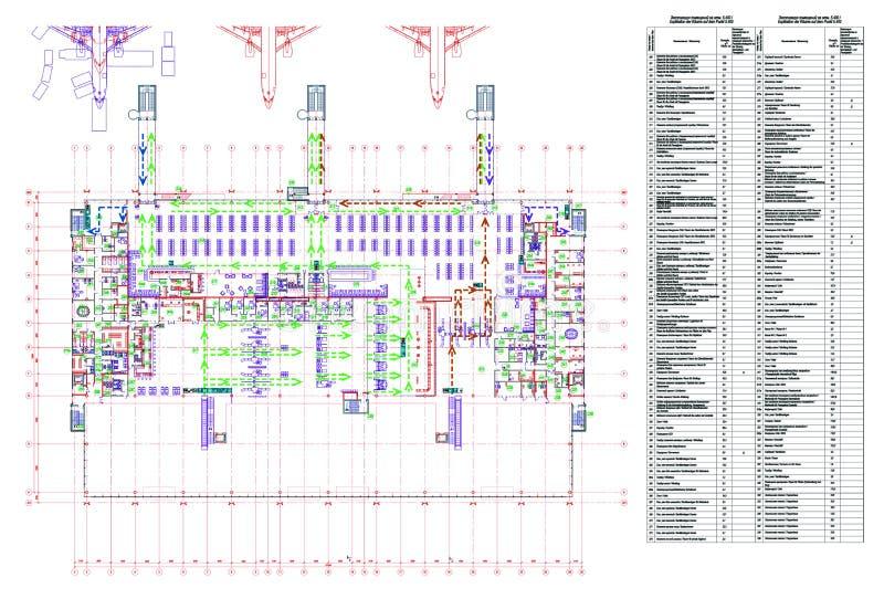 Het project van de luchthaven royalty-vrije illustratie