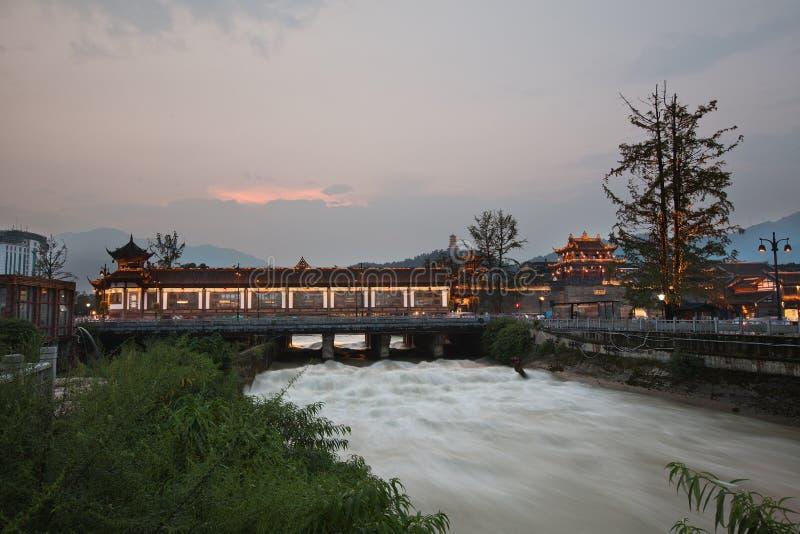 Het project van de watermilieubescherming van Dujiangyan stock afbeeldingen
