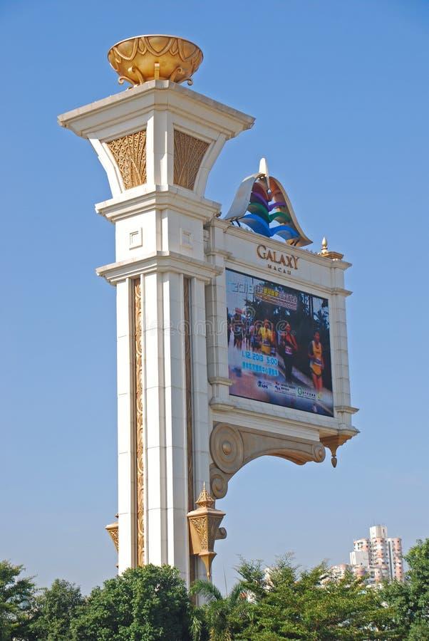 Het promotie Grote Scherm van Melkweg Macao royalty-vrije stock foto's