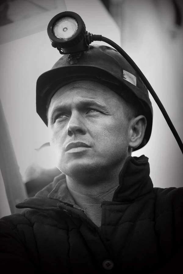 Het Protest actie-van staking van Silezische mijnwerkers royalty-vrije stock foto's