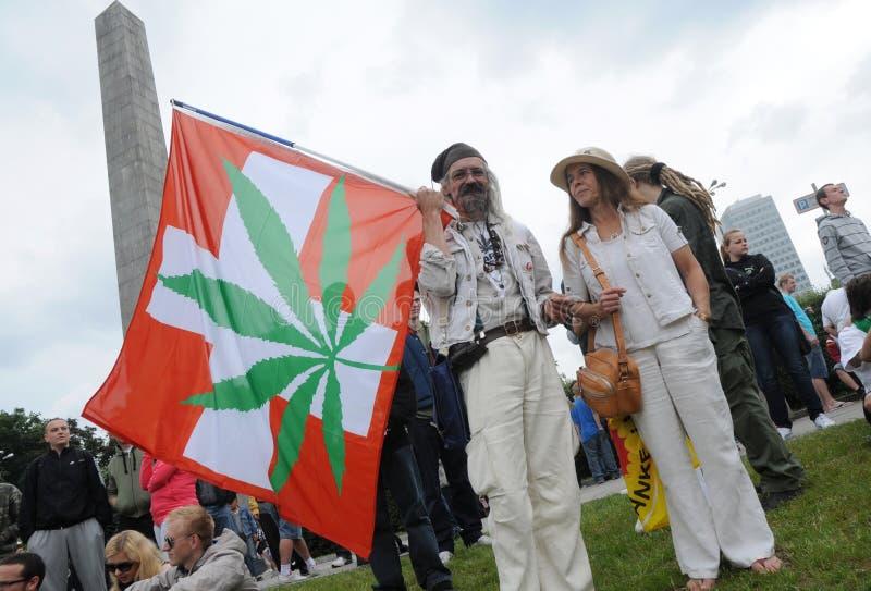 Het protest van de marihuana royalty-vrije stock afbeeldingen