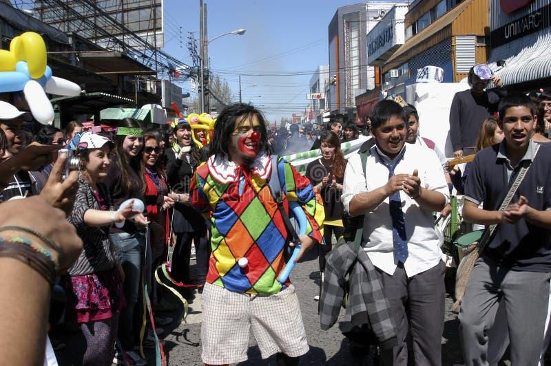 Het protest van de student in Chili royalty-vrije stock fotografie