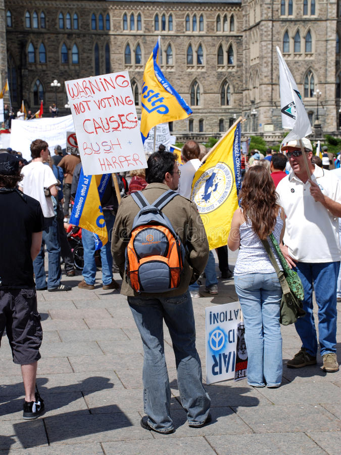 Het protest van het Vennootschap van de veiligheid en van de Welvaart stock afbeelding