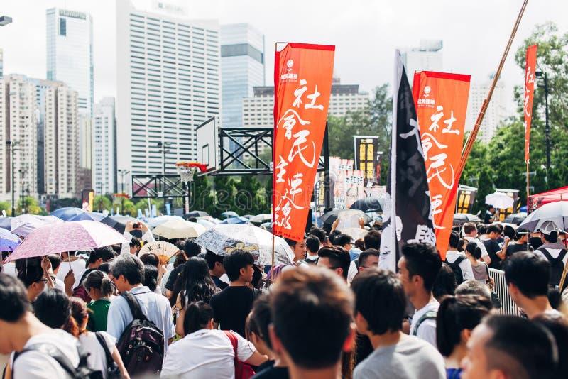1 het protest van Juli 2014 stock fotografie
