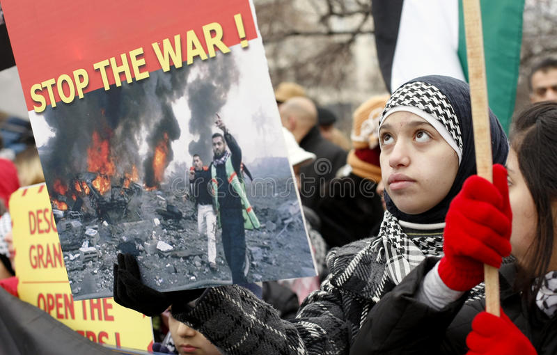 Het protest van Palestina - van Gaza royalty-vrije stock afbeelding