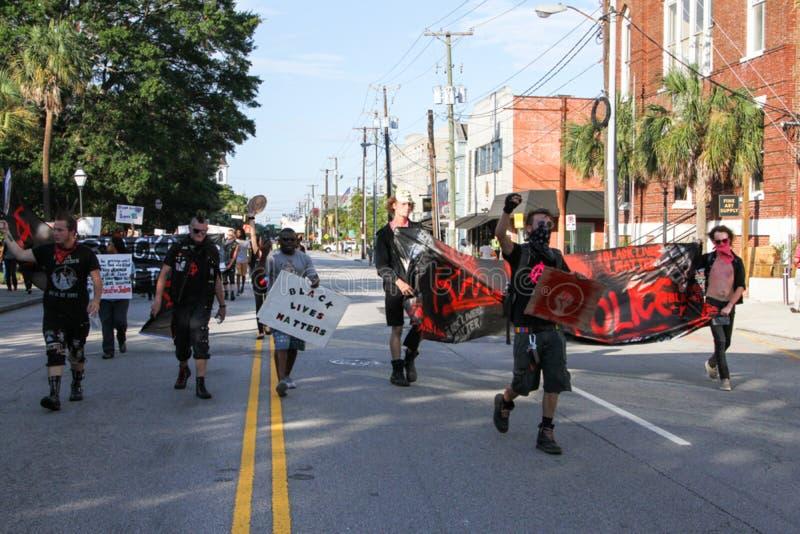 Het protesteren op Calhoun-Straat royalty-vrije stock afbeelding