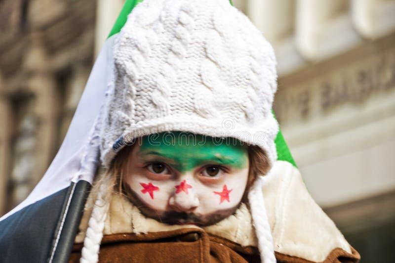 Het Protesteren van Syriërs stock foto's