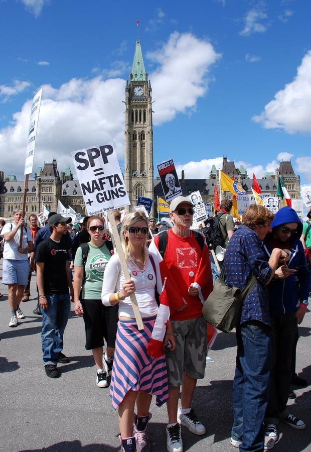 Het protestteken van het Vennootschap van de veiligheid en van de Welvaart stock afbeelding