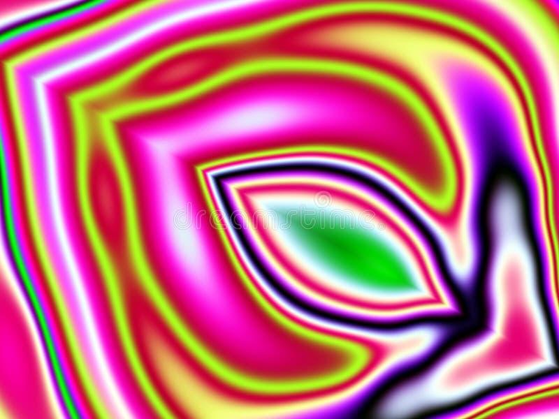 Het psychedelische Patroon van Kleuren royalty-vrije illustratie