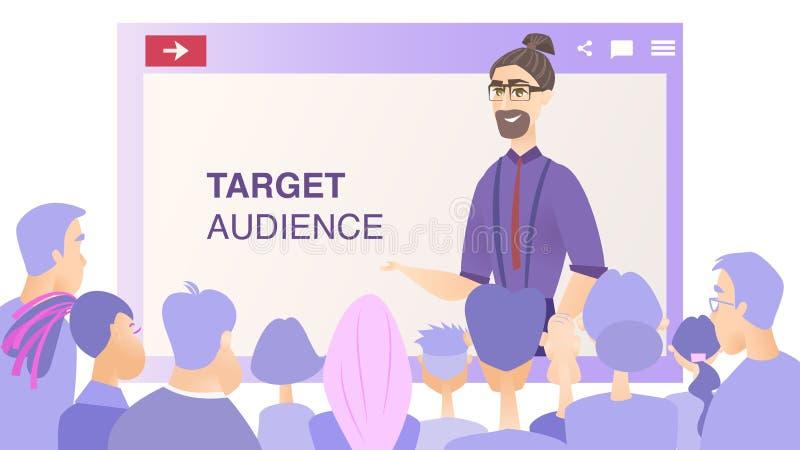 Het Publiek van het de Presentatiedoel van het illustratieproduct vector illustratie