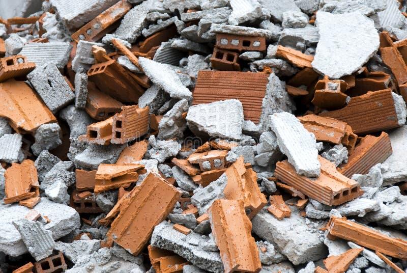 Het puin van de bouw royalty-vrije stock afbeelding