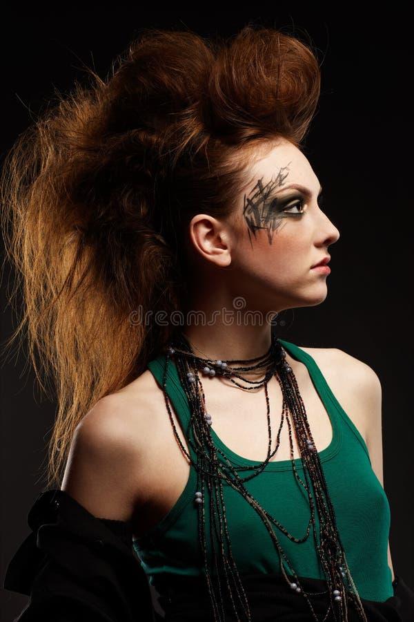 Het punkmeisje van Glam royalty-vrije stock foto's
