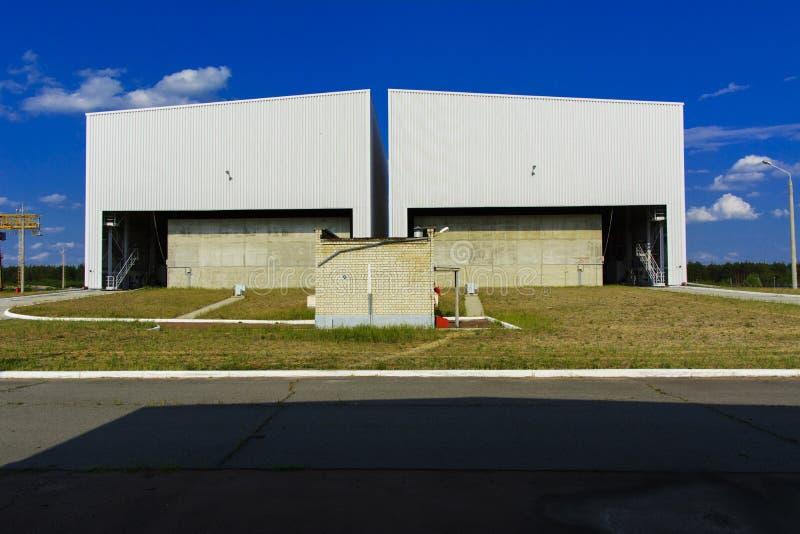 Het punt van begrafenis van radioactief afval van Tchernobyl stock fotografie