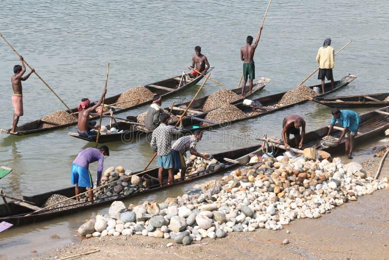 Het punt van de Jaflongsteen in Sylhet royalty-vrije stock foto