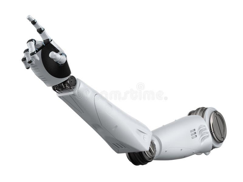 Het punt van de robothand stock illustratie