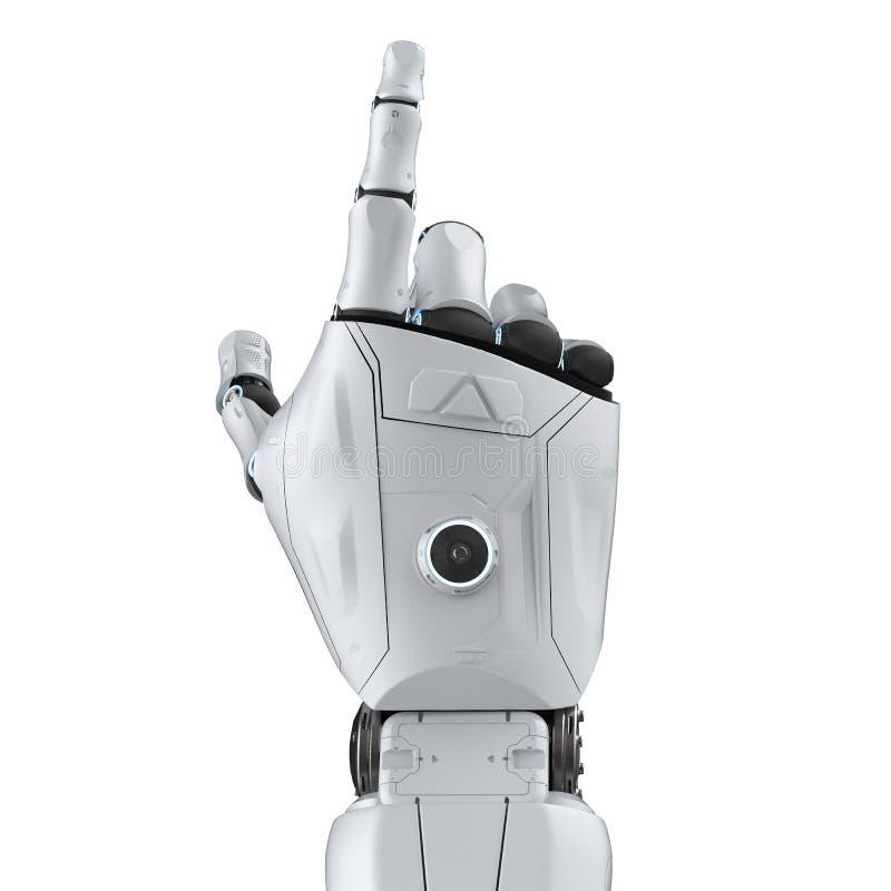 Het punt van de robothand royalty-vrije illustratie