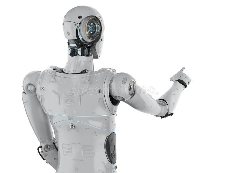 Het punt van de robotvinger royalty-vrije illustratie