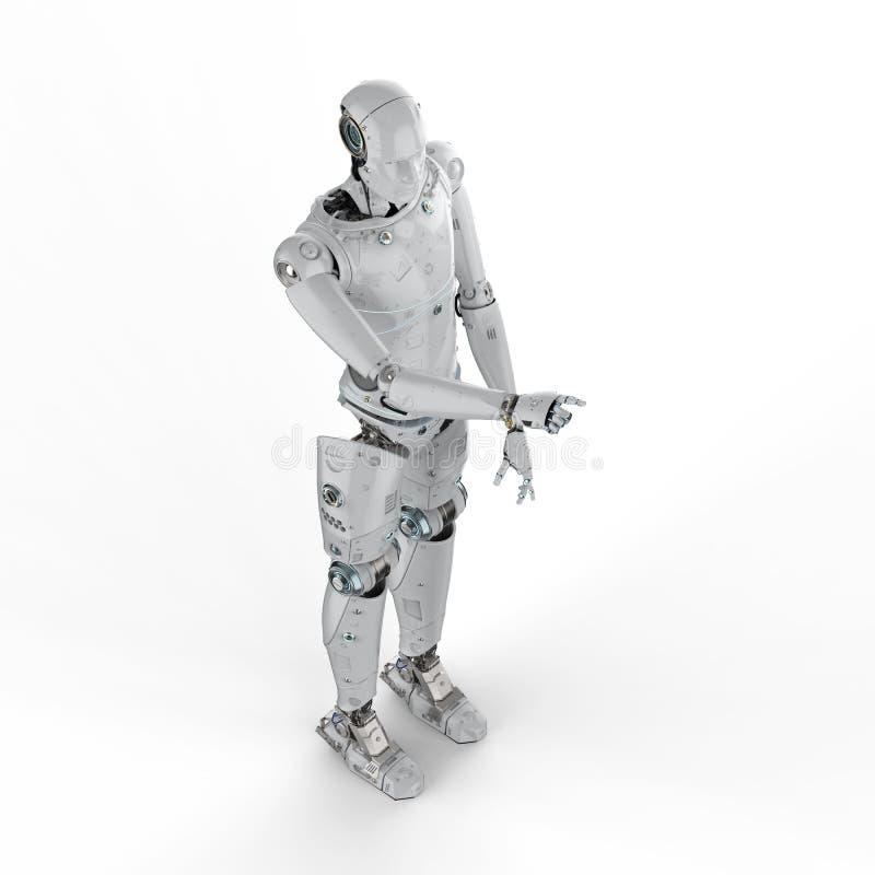 Het punt van de robotvinger vector illustratie