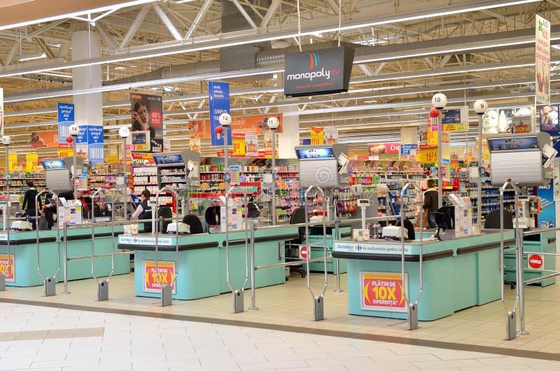 Lege supermarkt royalty-vrije stock afbeeldingen