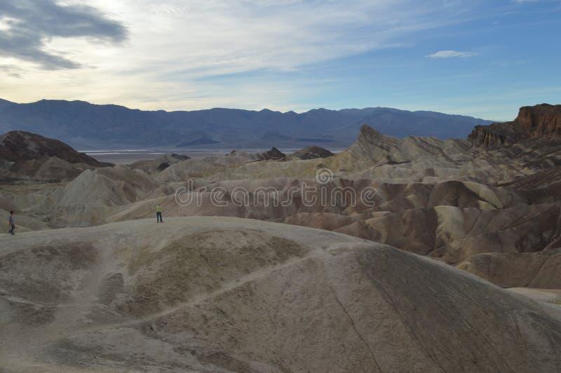 Het Punt van Zabriskie in de Vallei van de Dood stock fotografie