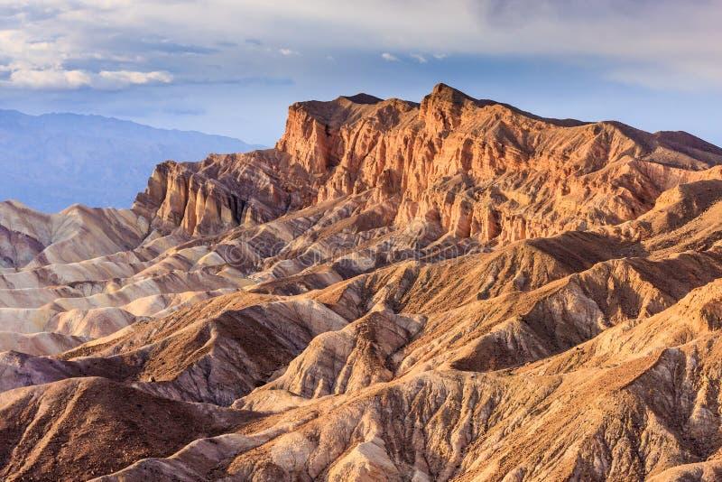 Het Punt van Zabriskie, het Nationale Park van de Vallei van de Dood, Californië royalty-vrije stock afbeeldingen
