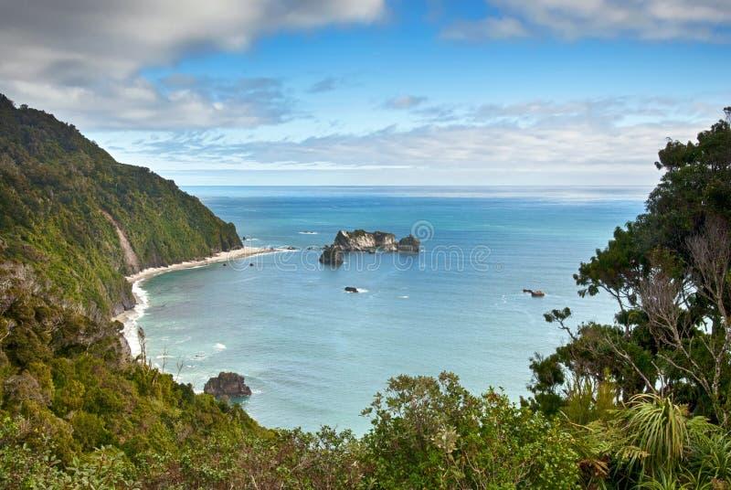 Het Puntvooruitzicht van de ridder, Nieuw Zeeland stock foto